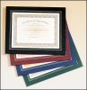 "10 3/4"" X 13"" Green Leatherette Frame Certificate Holder"