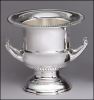 "8 1/2"" Silver-plated brass wine cooler"