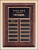 "9"" X 12"" Cherry finish wood 12 plate perpetual plaque"