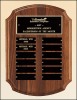 "11"" X 15"" Solid American walnut perpetual plaque with 12 plates"