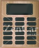 "10 1/2"" X 13"" OAK Finish Completed Perpetual Plaque"