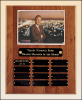 "10 1/2"" X 13"" American walnut perpetual photo plaque, 12 plates"