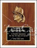 8 X 10 Firematic Award with Antique Bronze Finish Casting