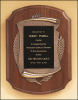 "11"" X 15"" American walnut Airflyte plaque with furniture finish"