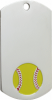 OCP39131-S Softball Dog Tag
