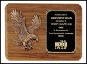 "OCTP1683 - 11"" x 15"" Walnut Eagle Plaque"