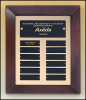 12 X 15 Perpetual Plaque with 12 Black Brass Plates