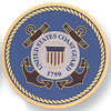 "Coast Guard 7/8"" Etched Metal"