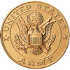 "Army 2"" Stamped Medallion"